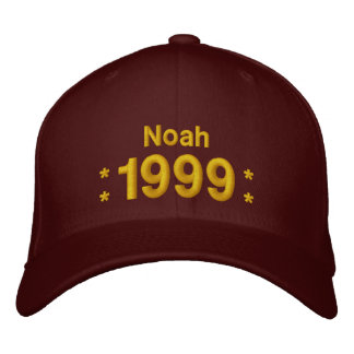 Born in 1999 or Any Year 16th Birthday V10H MAROON Embroidered Baseball Cap