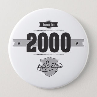 Born in 2000 (Dark&Lightgrey) Button