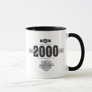 Born in 2000 (Dark&Lightgrey) Mug