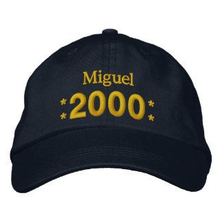 Born in 2000 or Any Year Birthday W01H NAVY Embroidered Baseball Hat