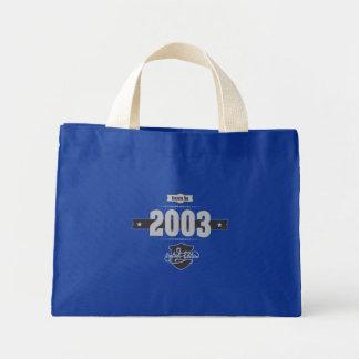 Born in 2003 (Light&Darkgrey) Mini Tote Bag