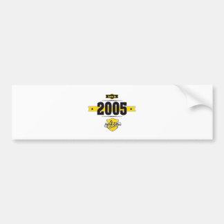 born in 2005 (choco&yellow) bumper sticker
