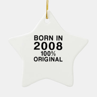 Born In 2008 Ceramic Ornament