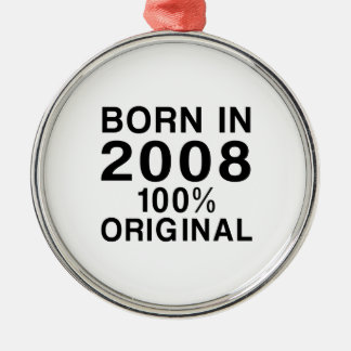 Born In 2008 Metal Ornament