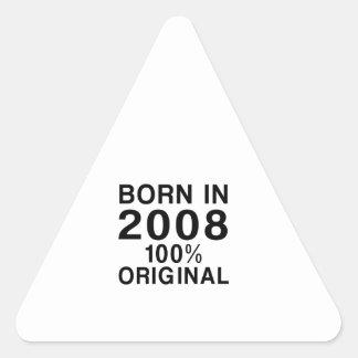 Born In 2008 Triangle Sticker