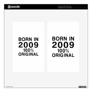 Born In 2009 Kindle Fire Decal