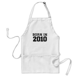 BORN IN 2010.png Adult Apron