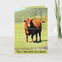 Born in a Barn Mother's Day Card