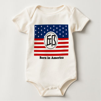 Born in America Baby Shirt - Chinese Surname Qui