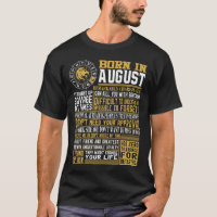Born in August facts T-Shirt