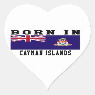 Born In Cayman Islands Heart Sticker