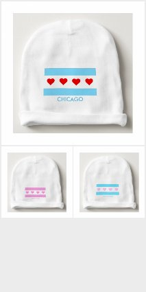Born in Chicago - Chicago Heart Flag