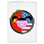 Born in China Loved in the USA Big Girl Greeting Cards