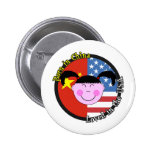 Born in China Loved in the USA Big Girl Pin