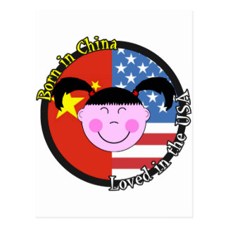 Born in China Loved in the USA Big Girl Post Cards