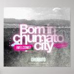Born in chumato / Magenta Poster