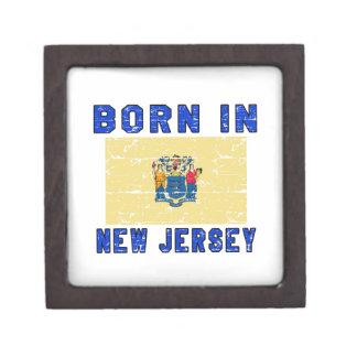 Born in New Jersey. Premium Keepsake Box