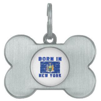 Born in New York. Pet ID Tag