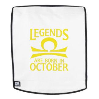Born In October Libra Zodiac Sign Birthday Gif Backpack
