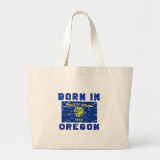 Born in Oregon. Tote Bags