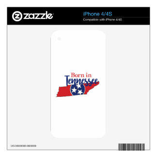 Born in Tennessee Skin For The iPhone 4