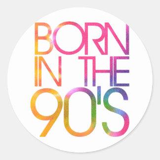 Born in the 90s classic round sticker