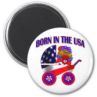 Born in the USA 2 Inch Round Magnet
