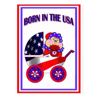 Born in the USA Asian Baby Post Cards