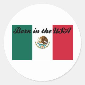 Born in the USA Classic Round Sticker