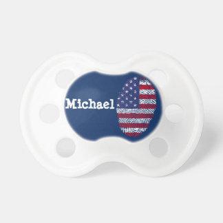 Born In The USA Fingerprint Pacifier