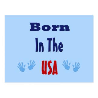 Born in the USA Hand prints Postcard