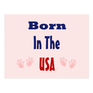 Born in The Usa (Pink) Post Cards