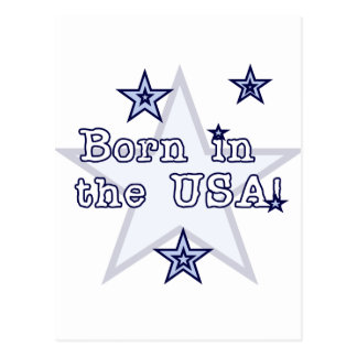 Born in the USA Tshirts and Gifts Post Cards