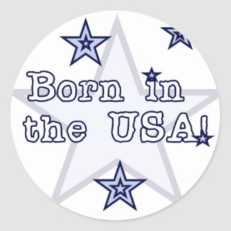 Born in the USA Tshirts and Gifts Stickers