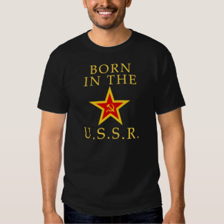 Born In The USSR (Yellow) Tee Shirt
