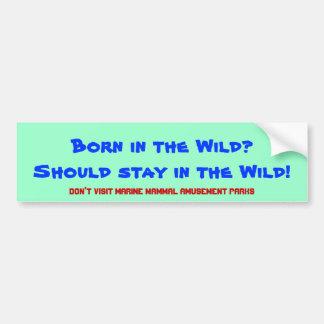Born in the Wild? Should stay in the wild! Bumper Sticker