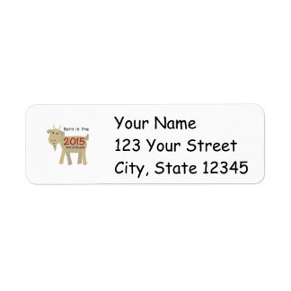 Born in the Year of the Goat 2015 Custom Return Address Label