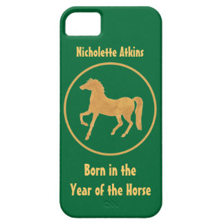 Born in the Year of the Horse, Gold-effect on Gree iPhone SE/5/5s Case
