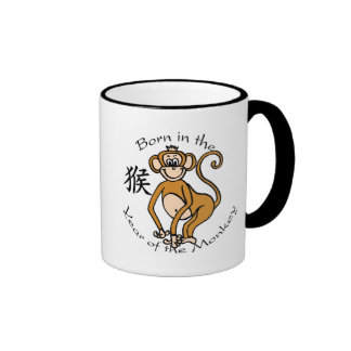 Born in the Year of the Monkey (Chinese) Ringer Mug