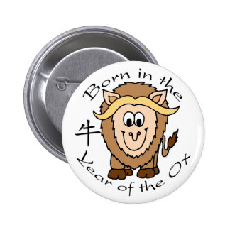 Born in the Year of the Ox Button