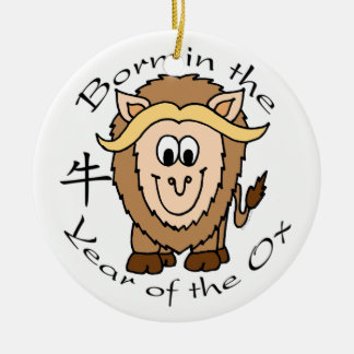 Born in the Year of the Ox ornament