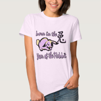 Born in the Year of the Rabbit Chinese Zodiac Tee Shirt