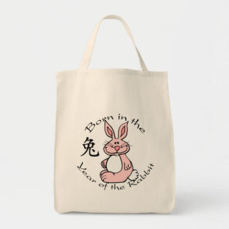 Born in the Year of the Rabbit Tote Bag