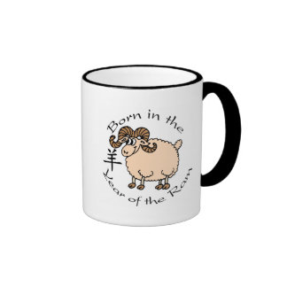Born in the Year of the Ram (Chinese) Ringer Mug