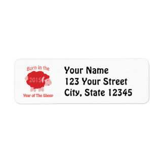 Born In the Year of the Sheep Return Address Labels