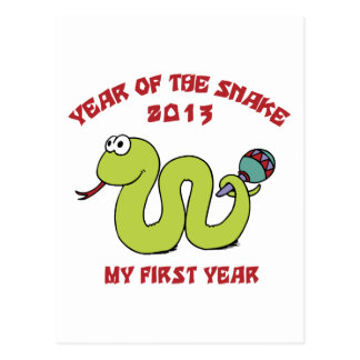 Born In The Year of The Snake 2013 Postcard