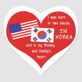 Born in Two Places - Korean Adoption Stickers
