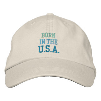 BORN IN USA cap Embroidered Hats