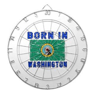Born in Washington. Dartboard