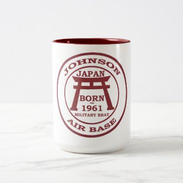 Born Johnson Air Base Japan 1961 Two-Tone Coffee Mug